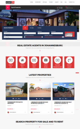 real estate web design south africa